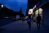 Twilight in Harlem. The accountants are still working.