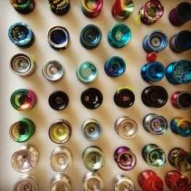 A small slice of Melford's yo-yo collection